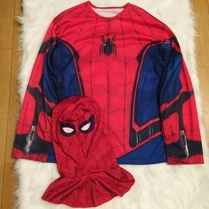Men's Spiderman Homecoming Shirt & Mask Costume